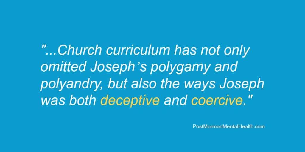 Joseph Smith polygamy polyandry deceptive coercive